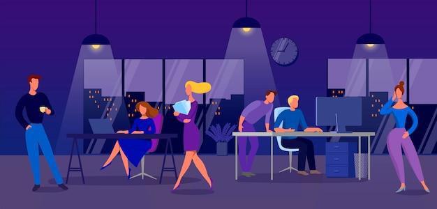 Un groupe de personnes au travail, au bureau.