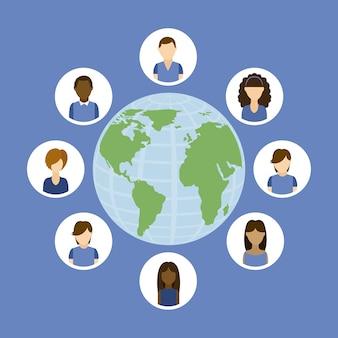 Groupe de personnes avatars