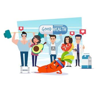 Groupe de personnes en bonne santé