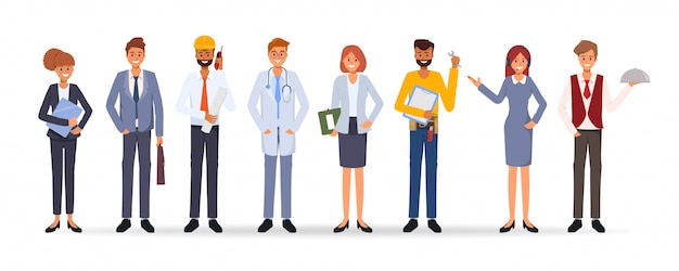 Groupe de personnes différentes métiers job journée internationale du travail