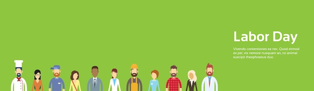 Groupe de personnes, différentes professions