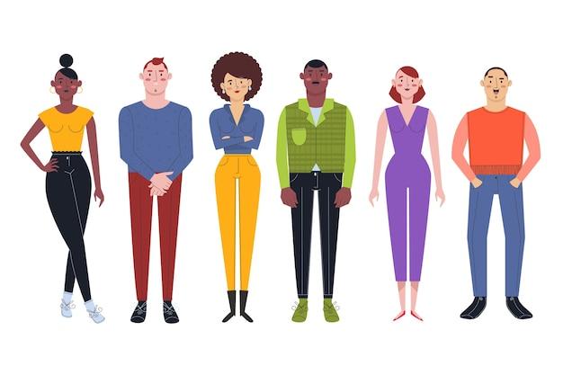 Groupe de personnes différentes