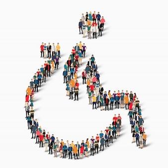 Groupe de personnes forme un vecteur invalide