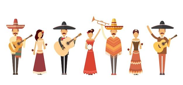 Groupe de personnes mexicaines