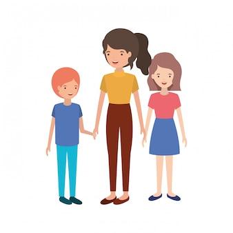 Groupe de personnes personnage avatar