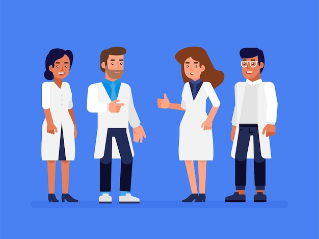Groupe de personnes de la santé. médecins professionnels avec infirmière et chirurgien.
