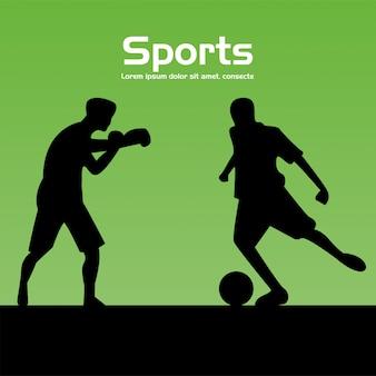Groupe de personnes sportives pratiquant des silhouettes sportives