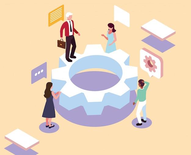 Groupe de personnes travaillant sur un projet, analyse et planification, conseil, travail d'équipe, gestion de projet, rapport financier et stratégie