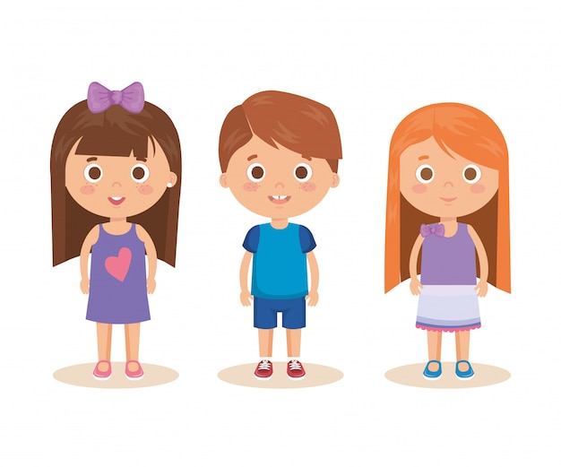 Groupe de petits personnages