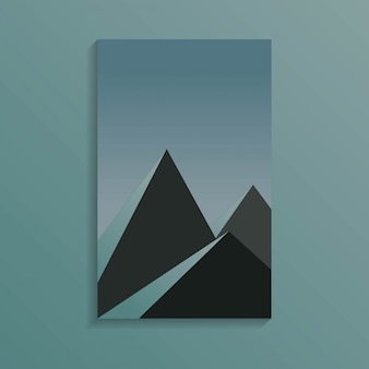 Groupe de pyramide en temps sombre de couleur bleu foncé