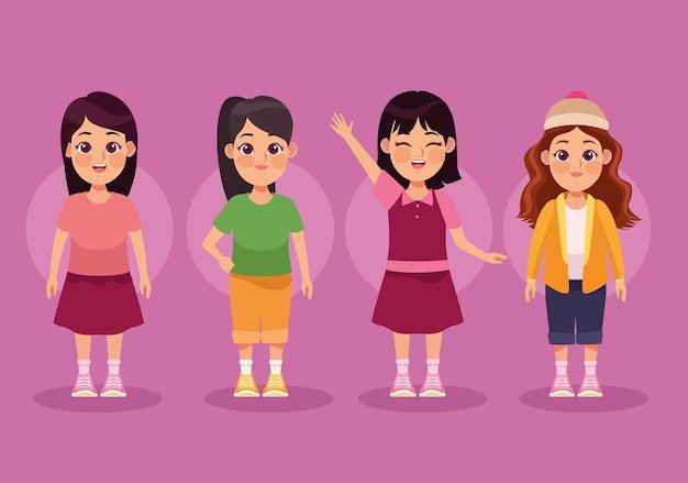 Groupe de quatre filles