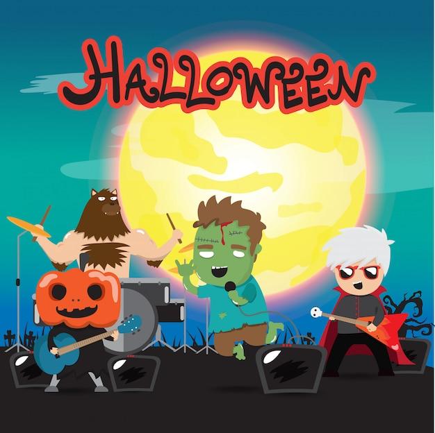Groupe de rock d'halloween