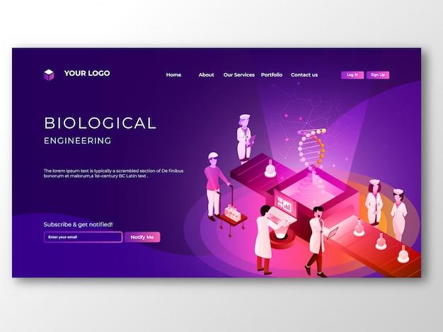 Groupe de scientifiques effectuant des recherches sur l'adn du génome en biologie