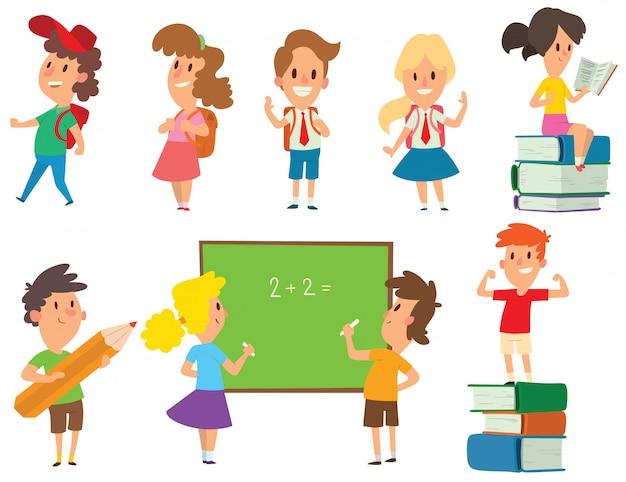 Groupe scolaire enfants va vecteur