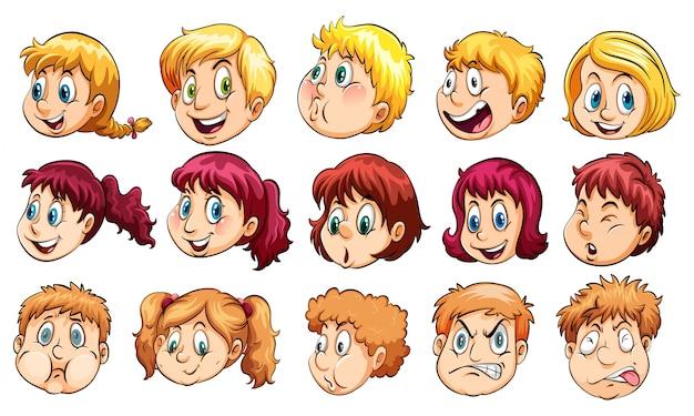 Groupe de têtes humaines