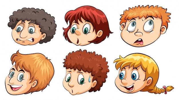 Un groupe de têtes