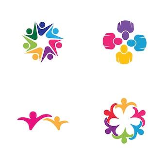 Groupe de travail d'icône de personnes conception d'illustration vectorielle