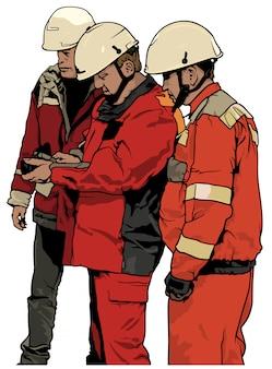 Groupe de travailleurs des services