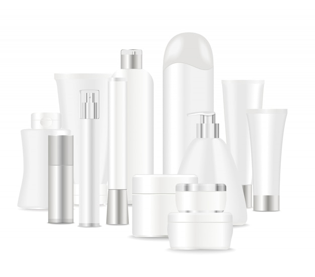 Groupe de tubes cosmétiques blancs