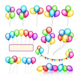 Groupes de ballon de fête de fête brillante de décoration