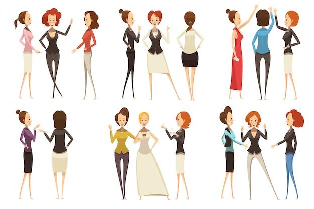 Groupes de femmes d'affaires souriantes