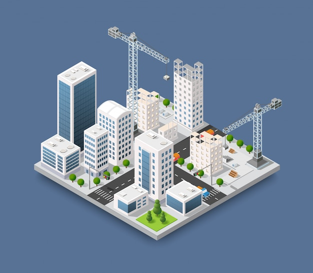 Grue de construction industrie lourde