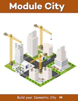Grue de construction lourde