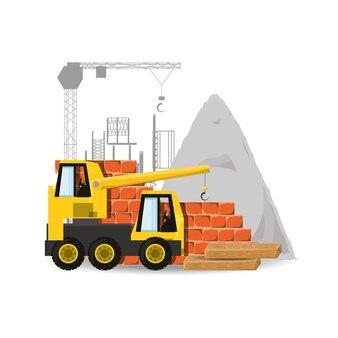 Grue sous le concept de construction