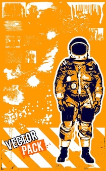Grunge astronaute sale texture