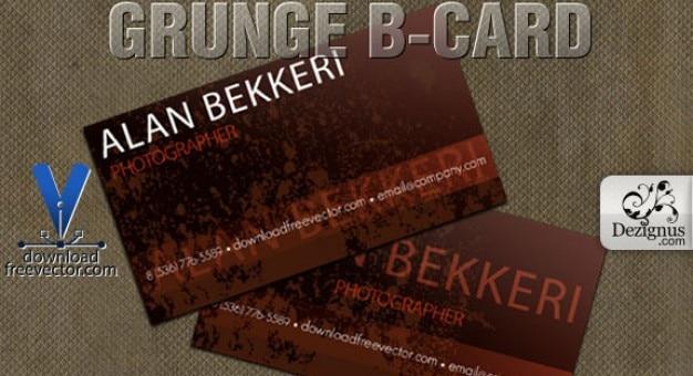 Grunge b-carte de calibre