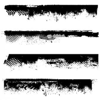 Grunge bordures noires