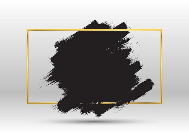 Grunge avec un cadre en or métallique