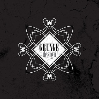 Grunge fond avec un motif décoratif