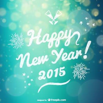 Grunge heureux nouveau lettrage année