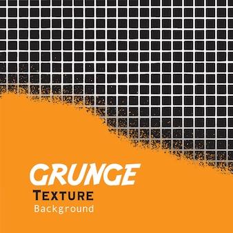 Grunge jaune avec fond de ligne de grille