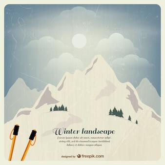 Grunge paysage d'hiver