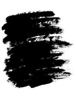 Grunge peint rayures noires étiquettes fond peinture texture pinceau coups vecteur