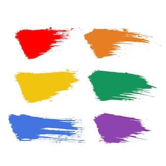 Grunge pride modèles lgbt vecteur coups de pinceau