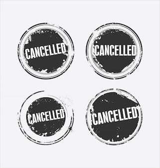 Grunge rubber stamp avec le texte annulé