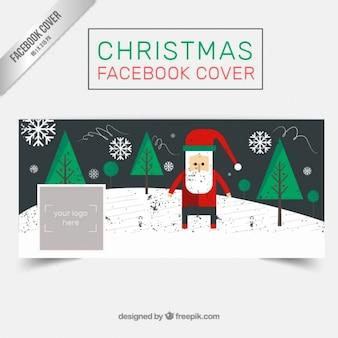 Grunge santa claus de couverture facebook