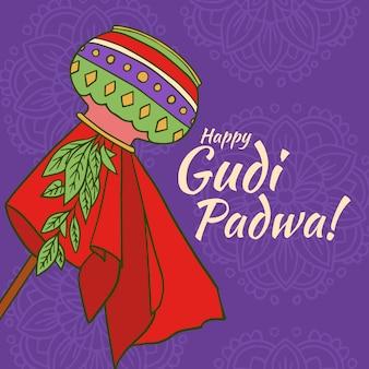 Gudi padwa dessiné à la main