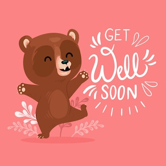 Guérissez bientôt avec un ours mignon