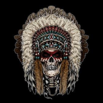 Guerrier crâne indien