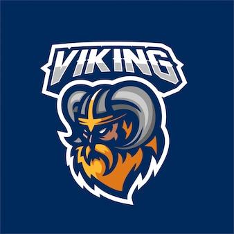 Guerrier dieux viking esport gaming mascotte logo modèle