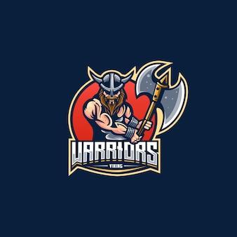 Guerrier épée chevalier bataille homme logo e-sport
