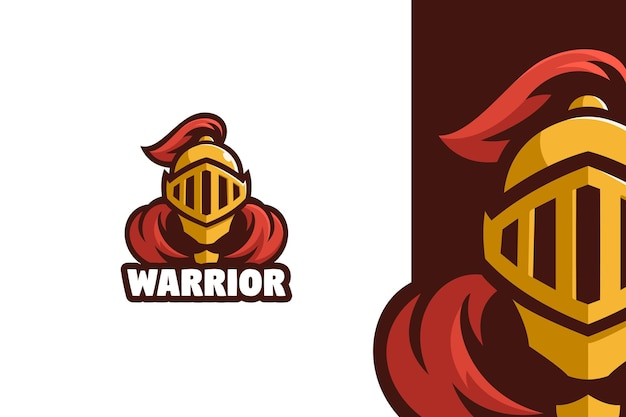 Guerrier gladiateur mascotte logo illustration