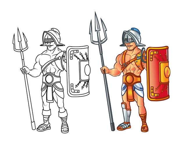 Guerrier gladiateur romain