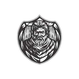 Guerrier logo vectoriel