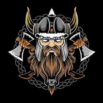 Guerrier viking avec vecteur de hache