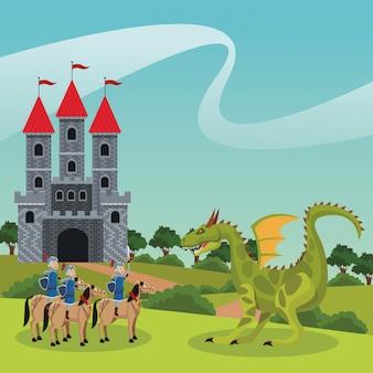 Guerriers médiévaux du royaume